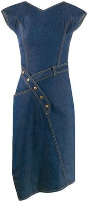 Christian Dior Pre-Owned 2000s asymmetric denim dress