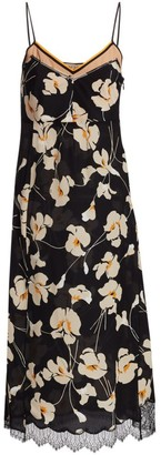 No.21 Silk Floral Midi Slip Dress