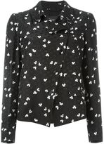 Emporio Armani printed double breasted jacket - women - Silk/Cotton/Viscose - 42
