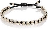 M. Cohen Men's Beaded Waxed Cord Bracelet-BLACK