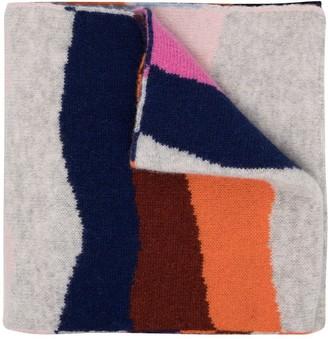 Paul Smith Striped Fine-Knit Scarf