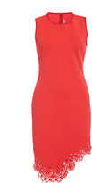 Clover Canyon Red Laser Cut Asymmetrical Hem Dress