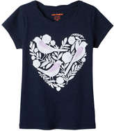 Joe Fresh Kid Girls' Graphic Twist Tee, JF Midnight Blue (Size S)