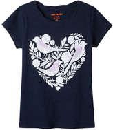 Joe Fresh Kid Girls' Graphic Twist Tee, JF Midnight Blue (Size XL)
