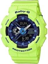 Casio Women's Baby G BA110PP-3A Rubber Quartz Sport Watch