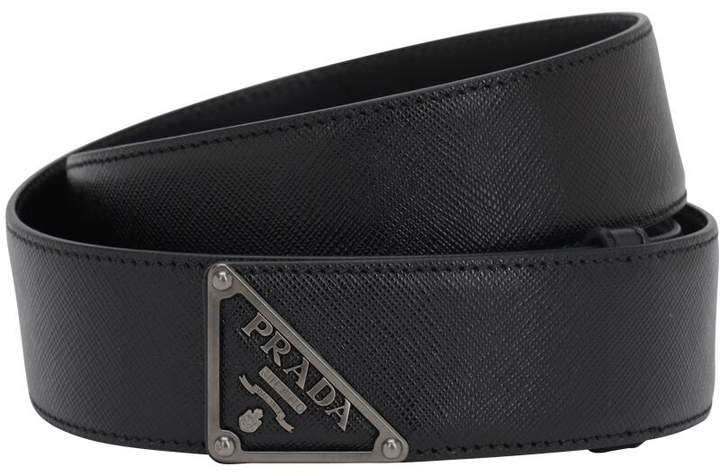 5fd7b8840a22a Mens Prada Logo Belt - ShopStyle