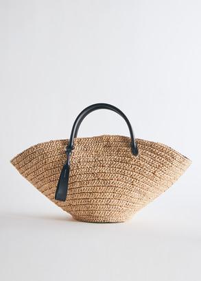 Jil Sander Medium Sombrero Bag in Off White