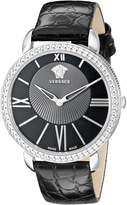 Versace Women's M6Q99D008 S009 Krios Stainless Steel Watch With Leather Band