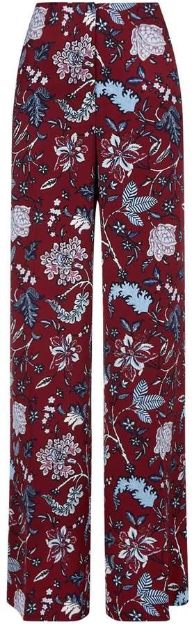 Diane von Furstenberg Floral Wide-Leg Trousers