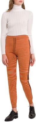 M Missoni Slub Fabric Joggers With Lurex Details