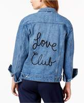 The Style Club Cotton Love Club Embroidered Denim Jacket