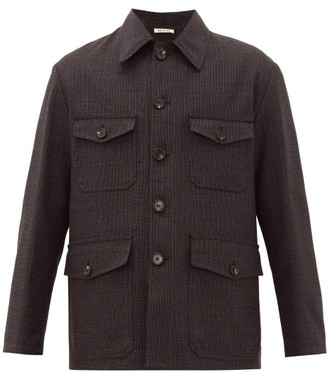 Marni Four-pocket Checked Wool Jacket - Black