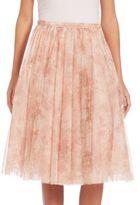 Jenny Yoo Lucy Printed Tulle Midi Skirt