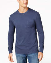 Club Room Men's Garment-Dyed Long-Sleeve T-Shirt, Created for Macy's