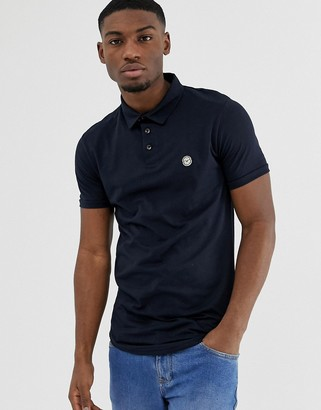 Le Breve curved hem polo with back panelling