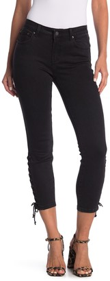 For The Republic Lace-Up Grommet Detailing Skinny Jeans