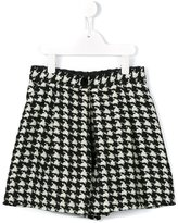Dolce & Gabbana tweed houndstooth shorts - kids - Silk/Polyester/Wool - 3 yrs