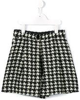 Dolce & Gabbana tweed houndstooth shorts - kids - Silk/Polyester/Wool - 4 yrs