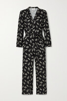 Thumbnail for your product : HVN Gia Printed Voile Jumpsuit - Black