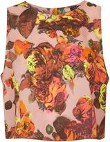 Topshop Sleeveless Floral Print Shell Top