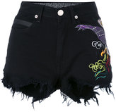 Marcelo Burlon County of Milan distressed embroidered shorts
