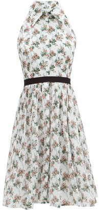 Emilia Wickstead Mini Nessie Floral-print Cotton Dress - White Multi