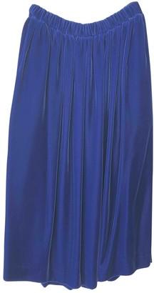 Comme des Garcons Purple Velvet Skirts