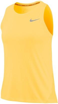 Nike Running Miler Tank Top- Gold