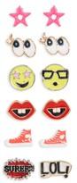 Capelli of New York Girl's Emoji 6-Pack Earrings