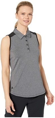 adidas Ultimate365 Sleeveless Polo (White) Women's Clothing