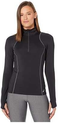 Asics Thermopolis 1/2 Zip (Performance Black/Graphite/Graphite) Women's Clothing