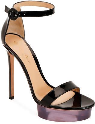 Gianvito Rossi Patent Leather Platform Sandals