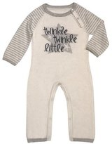 Lucky Jade Twinkle Cotton-Cashmere Coverall, Beige, Size Newborn-12 Months