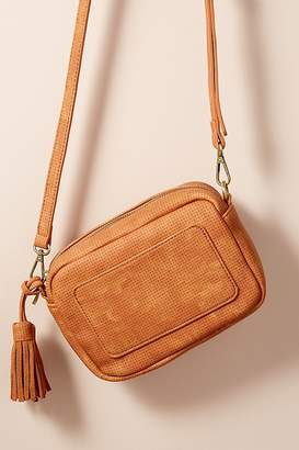 Norie Perforated Faux-Suede Shoulder Bag