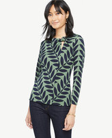 Ann Taylor Leaf Twist Knot Top