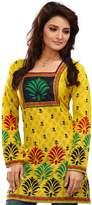 Maple Clothing Indian Tunics Kurti Top Blouse Womens Cotton Printed India Apparel (, XXL)