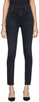 Citizens of Humanity Black Chrissy High-Rise Skinny Jeans