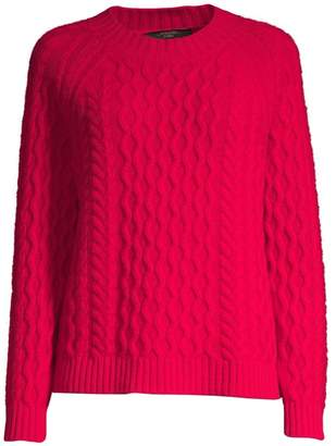 Max Mara Carpazi Cable-Knit Wool Sweater