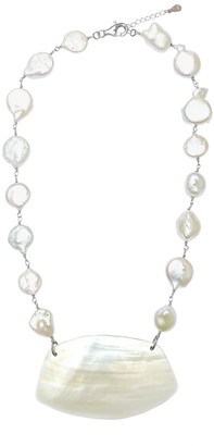 M.Sahlberg Jewelry Sculpted Shell Pearl Necklace