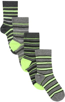 M&Co Neon stripe socks four pair pack