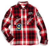 Diesel Little Boy's & Boy's Long Sleeve Plaid Shirt