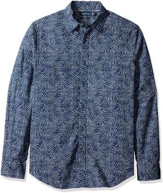 Nautica Men's Slim Fit Printed Chambray Shirt