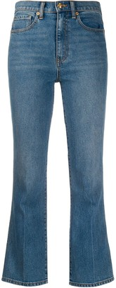 Tory Burch cropped flared jeans