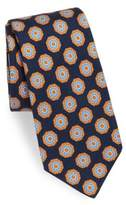 Kiton Fancy Medallion Print Silk Tie