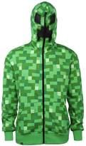 JINX Minecraft Creeper Premium Zip-Up Youth Hoodie X-Large