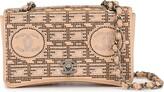 Chanel Pre Owned rhinestone chain shoulder bag