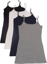 Active Products 4 Pack Active Basic Women's Basic Tank Tops,white