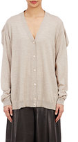 Maison Margiela Women's Draped-Shoulder Cardigan-TAN
