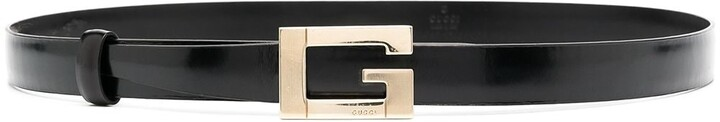 Gucci Pre-Owned G buckle skinny leather belt