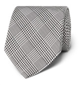 Tom Ford 8cm Prince Of Wales Checked Silk Tie - Gray
